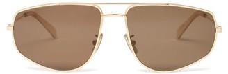 Celine Aviator Metal Sunglasses - Womens - Gold