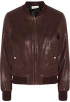 Etoile Isabel Marant Brantley Leather Bomber Jacket - Burgundy