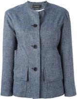 Isabel Marant collarless buttoned jacket - women - Silk/Cotton/Linen/Flax/Viscose - 38
