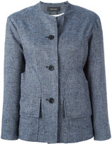Isabel Marant collarless buttoned jacket - women - Silk/Linen/Flax/Viscose/Polyester - 38