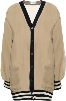 Brunello Cucinelli Striped Silk-georgette Cardigan