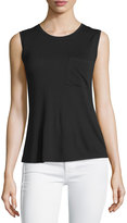 BCBGMAXAZRIA Open-Back Sleeveless Tee, Black