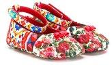 Dolce & Gabbana Carretto Con Rose ballerinas - kids - Leather/Polyester - 17