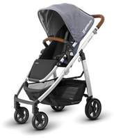 UPPAbaby CRUZ 2017 Stroller with Leather Handles in Gregory (Chambray Blue Fabric/Silver Frame)