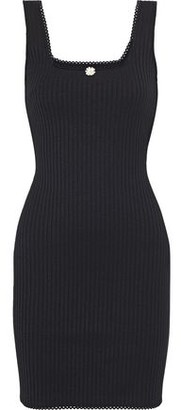 Solid & Striped Scalloped Crochet-trimmed Ribbed-knit Mini Dress