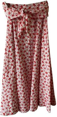 Lisa Marie Fernandez Red Cotton Skirts