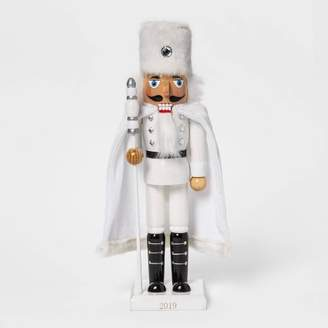 "Wondershop 14"" x 3.5"" Traditional Nutcracker in Faux Fur White - WondershopTM"