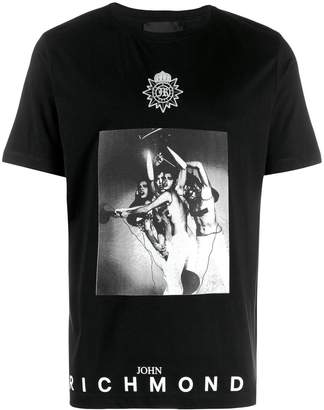 John Richmond contrast logo T-shirt