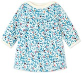 Petit Bateau Baby girls dress in printed cotton fleece