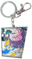 Monogram Alice in Wonderland Alice & Cheshire Cat Pewter Key Ring
