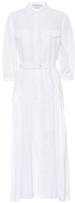 Gabriela Hearst Woodward linen shirt dress
