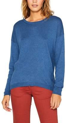 Esprit Womens Blue Fine Knit Jumper - Grey