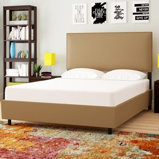 Brayden Studio Dolloff Upholstered Standard Bed Size: California King, Color: Premier Saddle