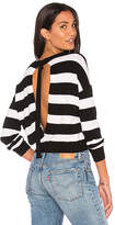 KENDALL + KYLIE Striped Pullover in Black & White. - size L (also in M,S,XS)