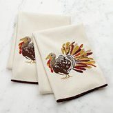 Crate & Barrel Thanksgiving Turkey Dish Towels, Set of 2