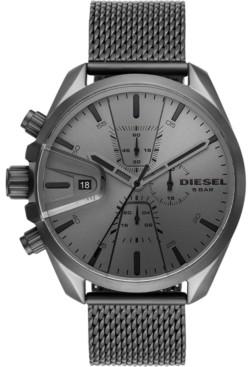 Diesel Men's MS9 Chronograph Gunmetal Stainless Steel Mesh Bracelet Watch 48mm