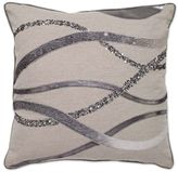 Aura Square Throw Pillow in Wheat