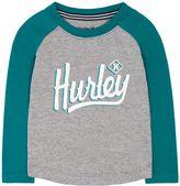 Hurley Toddler Boy High-Low Raglan Tee