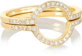 Ileana Makri Circle set of two 18-karat gold diamond rings