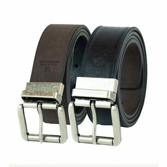 Weatherproof Men's Casual Reversible Belt with Rotated