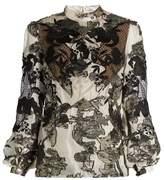 Erdem Bernice fil coupé balloon-sleeved blouse