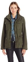 Levi's Women's Cotton Four-Pocket Military Jacket with Shoulder Quilting