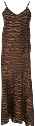 The Upside Cassia tiger-print dress