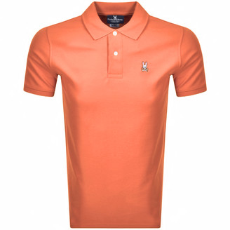Psycho Bunny Reardon Polo T Shirt Orange