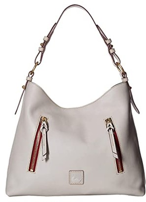 Dooney & Bourke Florentine Cooper Hobo (Ecru/Ecru Trim) Hobo Handbags