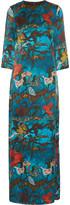 Alice + Olivia Christi Bell printed silk maxi dress
