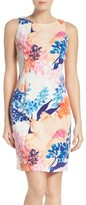 Ellen Tracy Petite Women's Floral Ponte Sheath Dress