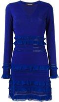 Roberto Cavalli knitted frill-detail dress - women - Polyamide/Viscose/Virgin Wool - 40