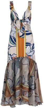 Silvia Tcherassi Catanzaro Floral Stretch-Silk Midi Dress