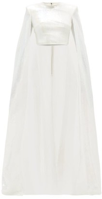 David Koma Sequinned Caped Top - Womens - White