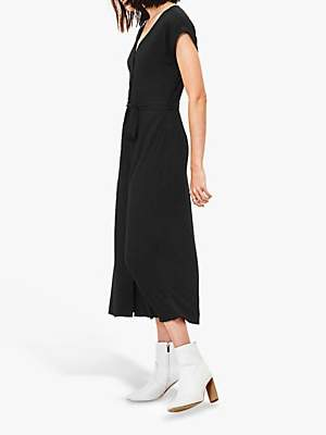 Oasis Short Sleeve Shirt Dress, Black