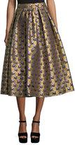 Mary Katrantzou Swan Jacquard Midi Skirt