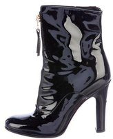 Valentino Patent Leather Ankle Boots