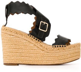 Chloé Lauren wedge espadrille sandals