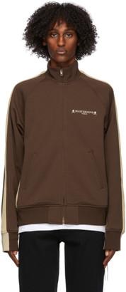 Mastermind Japan Brown and Beige Side Line Track Jacket