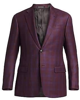 Emporio Armani Men's Two-Button Plaid Sportcoat