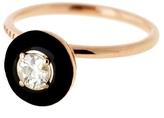 Selim Mouzannar 0.29 Carat White Diamond Enamel Ring
