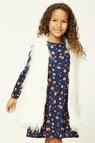 FOREVER 21 girls Girls Faux Fur Vest (Kids)