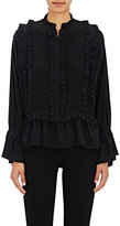 Ulla Johnson Women's Najda Silk Blouse-BLACK