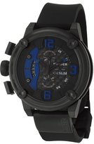 Welder Men's 7103 K28 Chronograph Black Ion-Plated Stainless Steel Round Watch