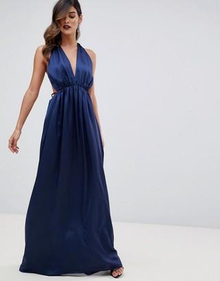The Jetset Diaries Louvre plunge maxi Dress