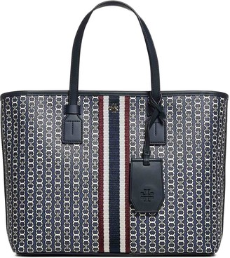 Tory Burch Gemini Link Small Top-Zip Tote Bag