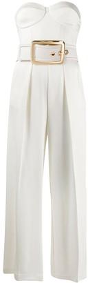 Elisabetta Franchi Oversized Belt Jumpsuit