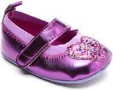 Laura Ashley Purple Metallic Glitter Heart Mary Jane