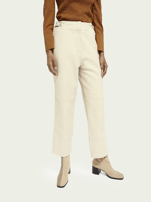 Scotch & Soda Premium straight leg leather pants | Women
