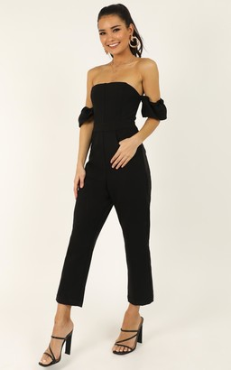 Showpo What Do I Have To Do Jumpsuit in black - 4 (XXS) Fitted